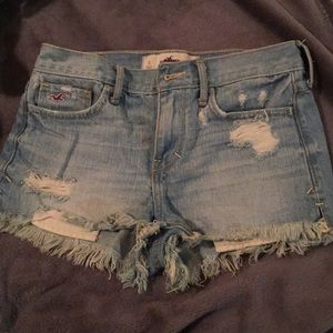 Hollister ripped high-waisted jeans